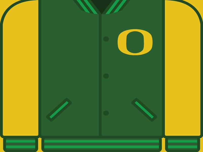 College Football Countdown: Oregon letterman ncaa college football oregon ducks oregon