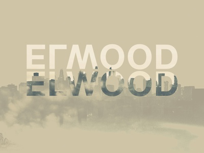 ELWOOD poster typography illustration design illustration montage photoshop