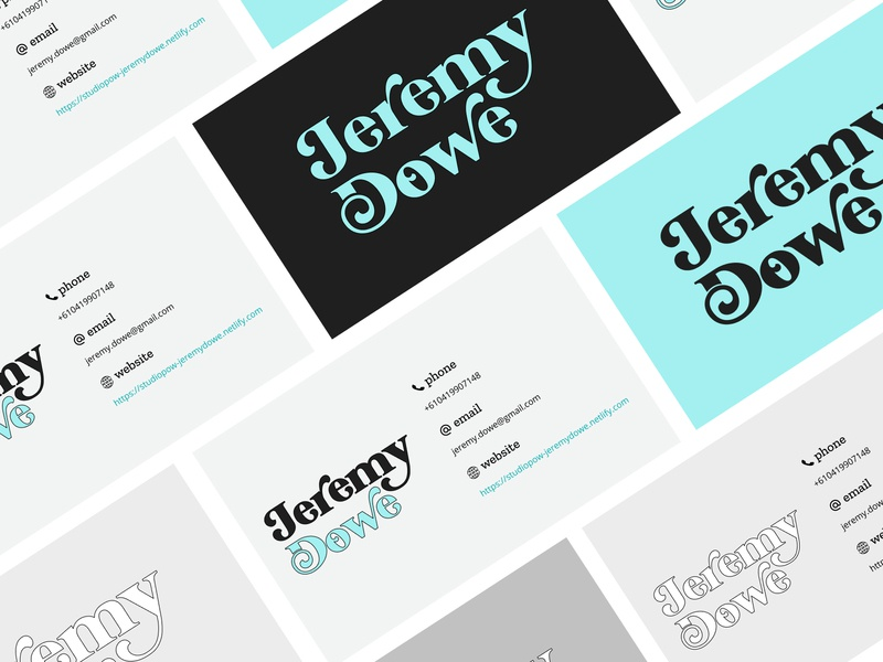 Personal B. Cards figma uidesign typography graphicdesign businesscards