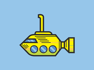 Sticker Sub lines vector illustration icon submarine logo