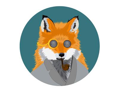 Loudest Fox wild orange class foxy fancy classy robe nature animal pipe loudest fox
