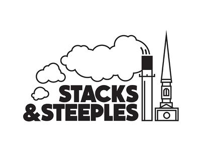 Stacks & Steeples icon iconography illustration art line line art bold vector steeples stacks