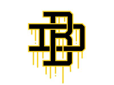 Design Bero Monogram gold serif letters type vector illustration monogram bero design typography