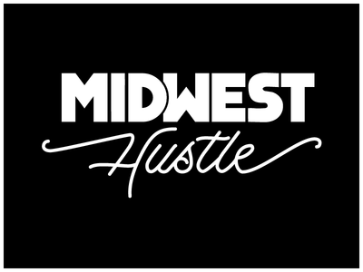 Midwest Hustle wisconsin graphic script bold design vector calligraphy lettering midwest hustle