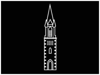 Steeple Icon #5 vector tower steeple iconography icon drawing cross church building architecture