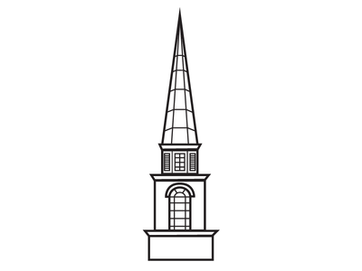 Steeple Icon #6 vector tower steeple iconography icon drawing cross church building architecture