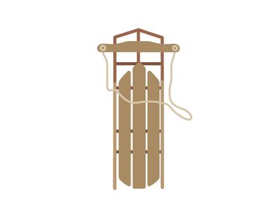 Sledding vector iconography illustrator vector art illustration icon wisconsin winter sledding sled