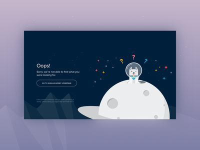 404 Page lost web planet universe dog not missing illustration found error color 404