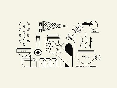 Tote Bag Design bag tote beans flag cup illustration chicago