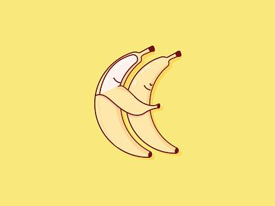 Banana Lovin love fruit chicago illustration banana vector