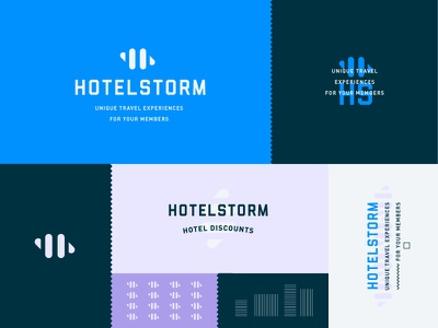 Rebrand monogram modern storm travel discount hotel branding logo