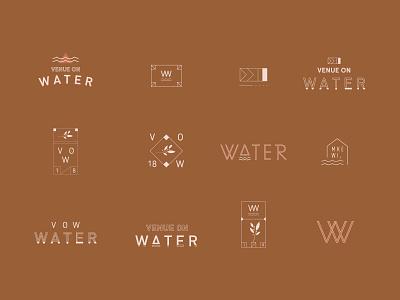 VOW water badge venue clean simple branding
