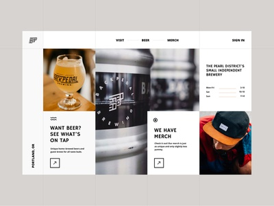 UI Concept beer grid brewery portland chicago ui