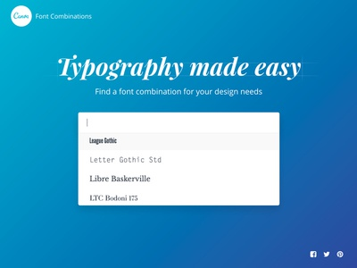 Find the perfect font combination