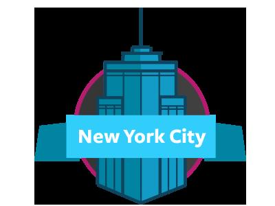 Empirestate skyscraper nyc new york icon illustrator