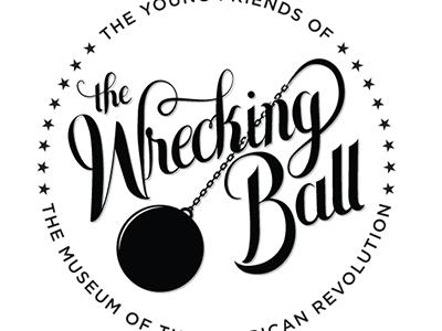 The Wrecking Ball wrecking ball logo typography