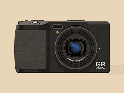 Ricoh GRD IV grd iv grd4 gr photography digital ricoh vector illustration camera
