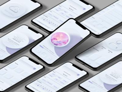 Tag Cloud figma interface design ui design music app