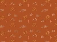 Desert inspired wallpaper