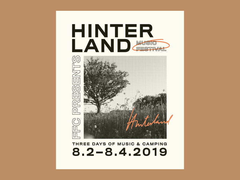 Hinterland Music Festival Poster posters typography poster typography art poster a day poster art festival branding music festival music handlettering typography poster