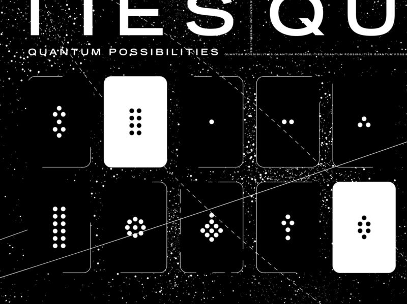 Quantum Computing Cards Illustration