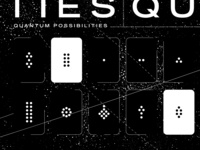 Quantum Computing Cards Illustration black and white minimal strokes cards starfield stars editorial quantum illustration quantum mechanics quantum computing space