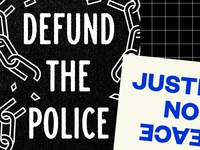 Defund the Police, No Justice No Peace open source free justice acab prison police design downloadable poster protest protest poster no justice no peace defund the police blacklivesmatter