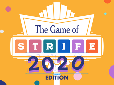 The Game of Strife 2020 Beta collaboration digital collaboration bonding team building component digital games community template fun play team activities team activities remote remote life figma board game figma board game game of life life