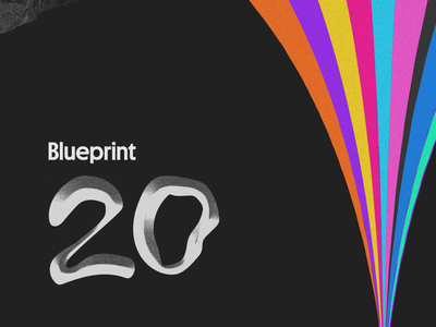 Blueprint 2020 Brand Identity & Elements digital event event event design 2020 graphic design logo raster science fiction paperback void rainbows vhs 80s scifi space graphicdesign poster identity visual design brand