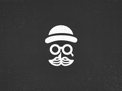 Death of a Salesman brand logo g bowler hat vintage retro vector minimal glasses moustache mustache