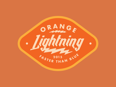 Orange Lightning orange electric sticker badge patch design badgehunting fast orange lightning vintage brand