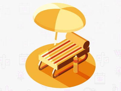 Worktime Chilling At The Beach nothing to report all good zero state break time yellow illustration minimal chair beach relaxing chilling work