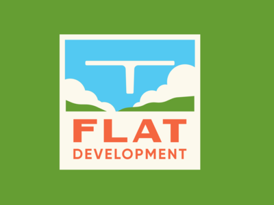 Flat development company brand design