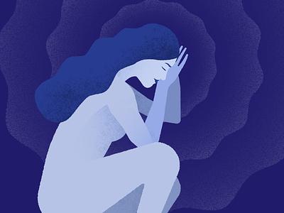 Wellness illustrations - Sleep & Energy texture minimal womans woman sleeping people runner illustration healthcare energy sleep health wellness