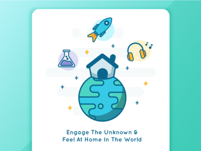Hello, World. learn activities earth illustration wip world home
