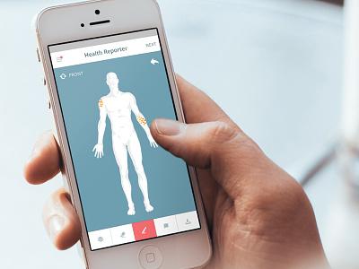 Health Reporter: Bodily Symptoms skin symptom ios health body mobile healthcare