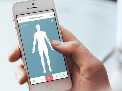Health Reporter: Bodily Symptoms skin symptom ios health body mobile healthcare