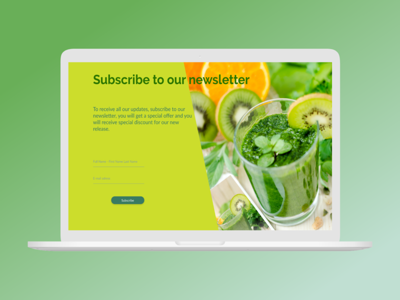 Daily UI challenge  026 newsletters smoothies smoothie newsletter template newsletter design newsletter ux design uxui uxdesign ux design ui challenge daily ui dailyui ui