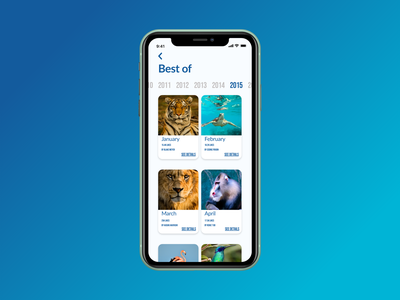 Daily UI challenge  063 animals mobile app design adobexd adobe xd bestof application app design app mobile ux design uxdesign uxui ux design ui daily ui ui challenge dailyui