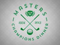 Masters Champions Dinner badge