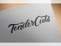 Lettering the TenderCuts Logo Mark