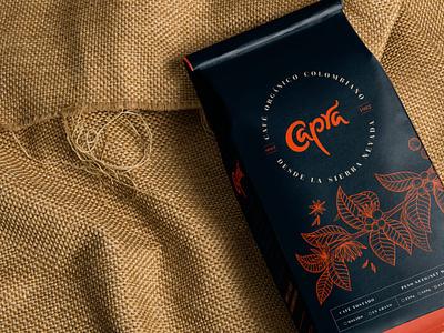 Capra brand identity brand design identity design logo illustration colombia coffeeshop packaging branding coffee