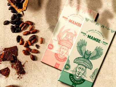 Chocolates Mambe chocolate packaging chocolate bar cacao jungle brand design packaging brand identity illustration chocolat