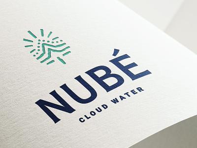 Nube - Water gourmet packaging design brand identity branding logo illustration identity design