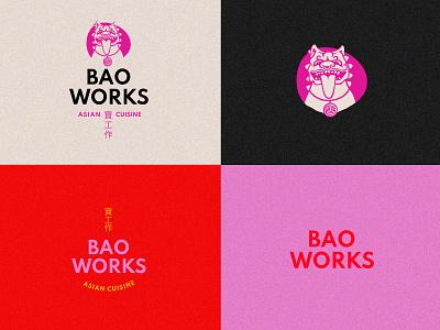 Bao Works design brand design illustration identity design brand identity branding logo