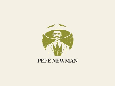 Pepe Newman foodmexican food mexico logotype identity design brand design brand identity branding illustration logo