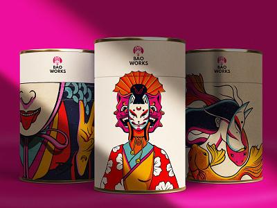 Bao Works graphic design design packaging brand design illustration identity design logo brand identity branding