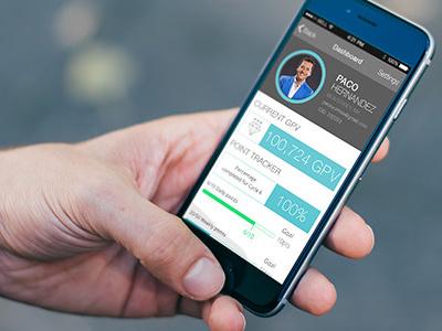 UI Dashboard Business Tracker ios iphone dashboard bar picture profile tritone mint simple minimalistic ui