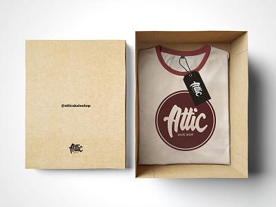Logo - Attic Sakte Shop autumn brown winter print packaging t-shirt concept re-branding brand logo skate
