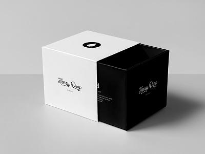 Honey Drop Rebrand etsy print black and white packaging logo